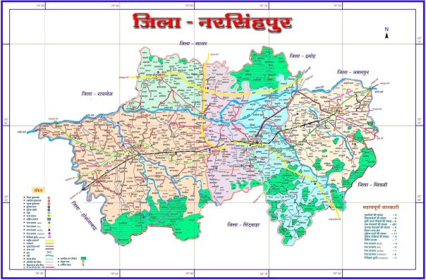 Map of Narsinghpur